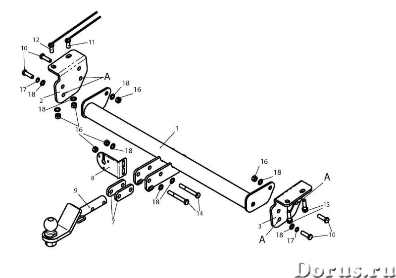 Фаркоп на Vortex Tingo FL, с 2012 г.в - Запчасти и аксессуары - Фаркоп (тягово-сцепное устройство) н..., фото 1