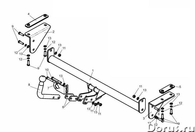 Фаркоп на Nissan Qashgai, с 2009 г.в - Запчасти и аксессуары - Фаркоп (тягово-сцепное устройство) на..., фото 1