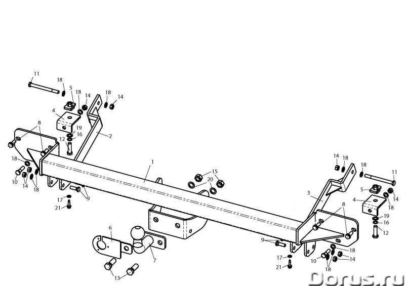 Фаркоп на Citroen Jumper, с 2006 г.в - Запчасти и аксессуары - Фаркоп (тягово-сцепное устройство) на..., фото 1