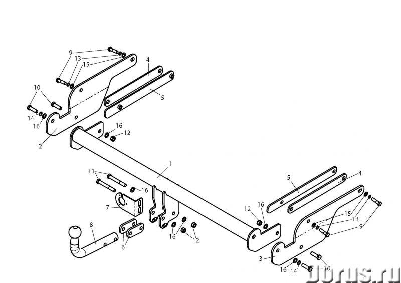 Фаркоп на Ford Kuga, с 2008 г.в - Запчасти и аксессуары - Фаркоп (тягово-сцепное устройство) на Ford..., фото 1