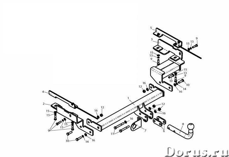 Фаркоп на Ford Fusion, с 2002 г.в - Запчасти и аксессуары - Фаркоп (тягово-сцепное устройство) на Fo..., фото 1