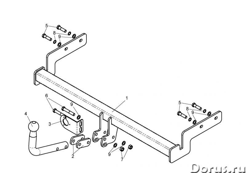 Фаркоп на Hуundai Accent - Запчасти и аксессуары - Фаркоп (тягово-сцепное устройство) на Hуundai Acc..., фото 1