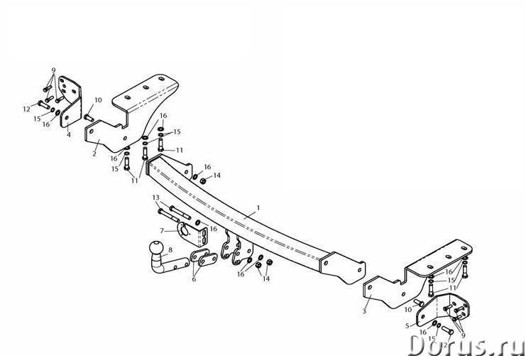 Фаркоп на Toyota RAV4, с 2013 г.в - Запчасти и аксессуары - Фаркоп (тягово-сцепное устройство) на To..., фото 1
