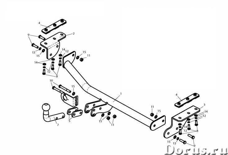 Фаркоп на Nissan Juke, с 2010 г.в - Запчасти и аксессуары - Фаркоп (тягово-сцепное устройство) на Ni..., фото 1