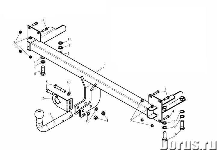 Фаркоп на Kia Spectra - Запчасти и аксессуары - Фаркоп (тягово-сцепное устройство) на Kia Spectra (К..., фото 1