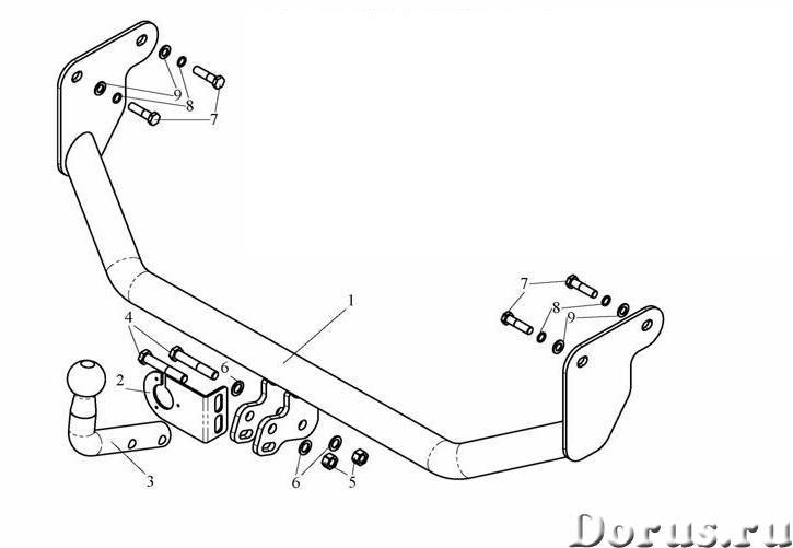 Фаркоп на Mitsubishi Lancer, с 2003 г.в - Запчасти и аксессуары - Фаркоп (тягово-сцепное устройство)..., фото 1