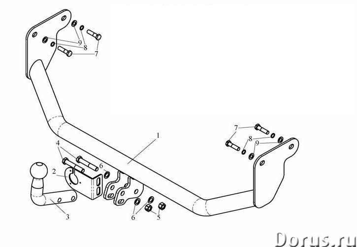 Фаркоп на Mitsubishi Lancer седан/универсал/хэтчбек, с 2003 г.в - Запчасти и аксессуары - Фаркоп на..., фото 1