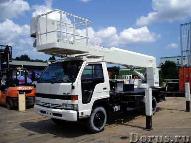 Услуги агп от 14 до 40м, телескоп - Сельхоз и спецтехника - Автовышка MITSUBISHI SK-130 используется..., фото 1